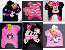 MINNIE MOUSE DISNEY Toddlers Winter Knit Trapper or Beanies Hat&Mittens ... - $12.86+