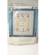 Crewel Creative Stitchery Kit Eat, Drink & Be Merry For Tomorrow We Diet... - $4.46