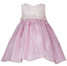 Rare Editions Infant 12 M 24 M 2 Piece Pink Ivory Beaded Waist Crinkle Skirt Sp... - $44.50
