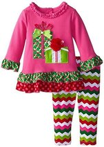 An item in the Fashion category: Rare Editions Baby Girls Infant 12M-24M Birthday Gift Applique Chevron Set (1...