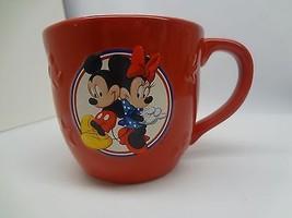 Red Disney Mickey & Minnie Mouse Hallmark Coffee Mug - $9.90