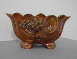 Brown Lusterware Planter - $10.00