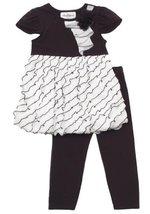 Size-4, Ivory, Ivory Black Bias Eyelash Ruffle Bubble Legging Set, Rare Editi...