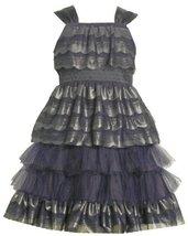 Bonnie Jean Big Girls' Sleeveless Scalloped Dress, Blue, 14 [Apparel]
