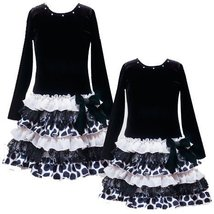 Size 2 T Rre 49361 H Black Ivory Tiered Mixed Print Drop Waist Skirt Special Oc... - $42.47