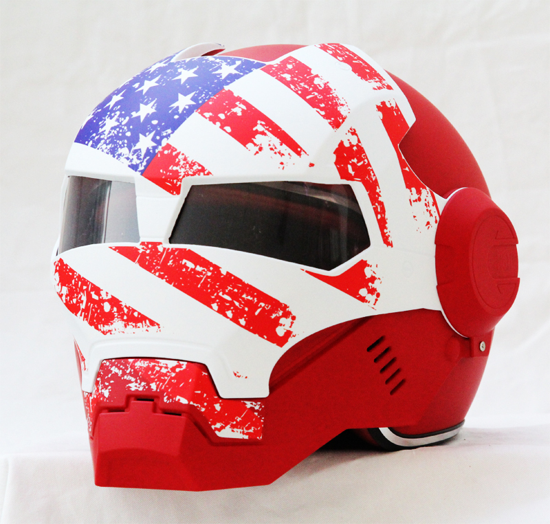 Masei 610 USA Patriot Motorcycle Helmet image 1