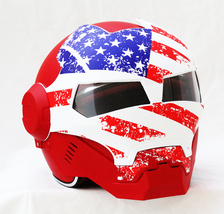 Masei 610 USA Patriot Motorcycle Helmet image 2