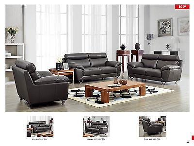 Chic Modern 8049 Italian Leather Sofa Living Room Set Contemporary