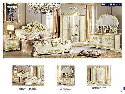 Classic ESF Leonardo Queen 5 Piece Bedroom Set Made in Italy by Camelgroup