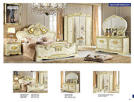 Classic ESF Leonardo Queen 5 Piece Bedroom Set Made in Italy by Camelgroup