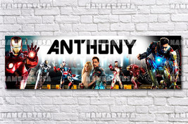 Custom Name Design Poster / Iron Man / Personalized Banner / Birthday Gi... - $15.00