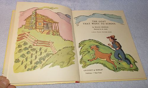 The Goat that went to School 1940 Story Parade Picture Book Ellis Credle