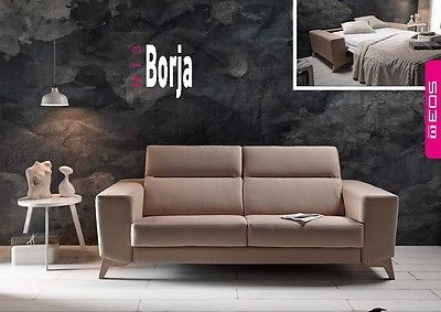 Borja Sofa Sleeper Bed Living Room Modern Contemporary Futon Made in Spain