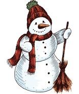 4 Vector Snowman-Digital Clipart-Christmas - $3.00
