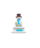 6 Snowman A-Digital Clipart-Christmas-Card - $4.00