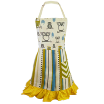 Cate Chestnut Hoot Hoot Green 2-in-1 Owl Apron - $25.00