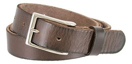 "Men's Vintage Style Full Grain Leather 1-1/8"" Wide Belt (Brown, 46) - $22.72"