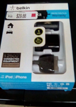 BELKIN  MICRO CHARGER KIT iPOD  iPHONE BRAND NEW  - $9.12