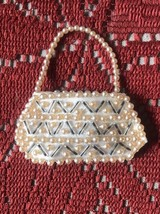 "Vintage Fashion Doll Purse Beaded & Satin 17-20"" Doll - $24.74"
