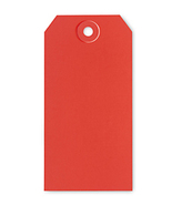 Red Tag 4.75 x 2.375 gift packaging ornament tag 10/pack cross stitch  - $3.00