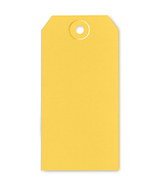 Yellow Tag 4.75 x 2.375 gift packaging ornament tag 10/pack cross stitch  - $3.00