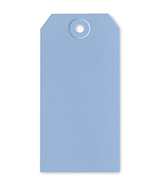 Blue Tag 4.75 x 2.375 gift packaging ornament tag 10/pack cross stitch  - $3.00
