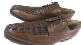 Men Brown Color Genuine Crocodile Leather Shoes Grade A Horn Back US Size 9-10 - $179.99+