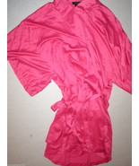 NWT $120 New Designer Natori Short Wrap Robe Pi... - $120.00