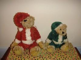 Boyds Bears Nicholas And Elgin Plush Santa Elf Bears - $15.99