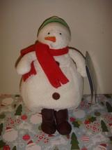 Hallmark Plush Snowman Happy Go Slushy Folichon - $9.99