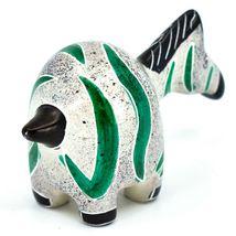 Crafts Caravan Hand Carved Soapstone Chubby White & Green Zebra Figurine Kenya image 4