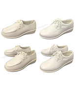 Women's Comfort Shoes Leather Lined Lace up Wide Width Medical Work Nurs... - $13.37+