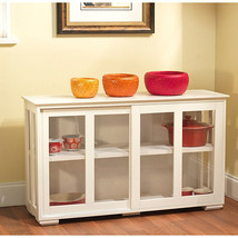 Glass Pantry Dish Cabinet Kitchen Buffet Storage Display Stackable Hutch - $170.24