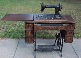 Wheeler & Wilson Sewing Machine With Machine Accessories-Very Good Condi... - $499.99