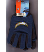 NFL Chargers Sport Utility Gloves One Size Fits Most - £7.21 GBP