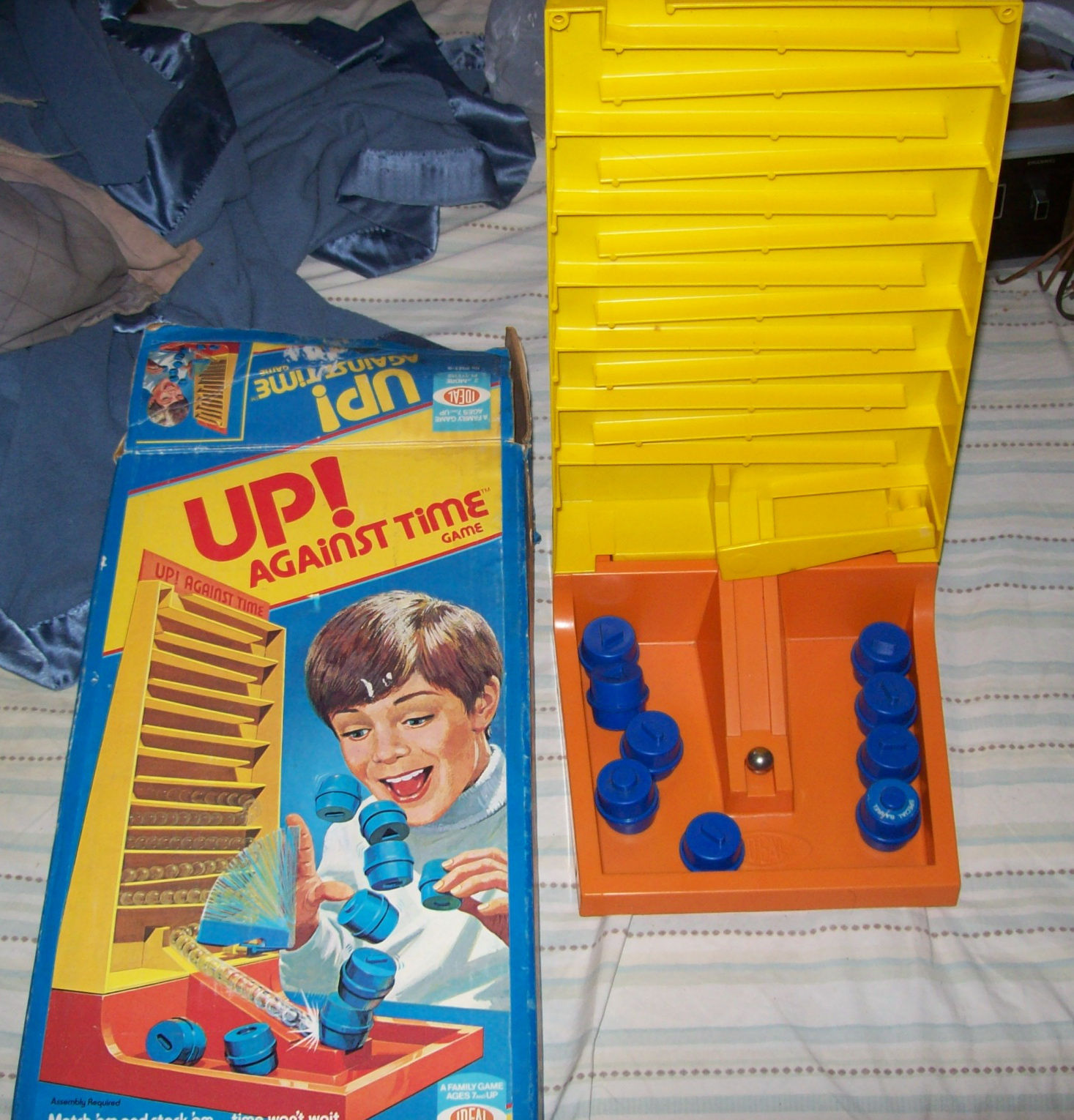 Vintage 1977 IDEAL Up Against Time Game with Original Box