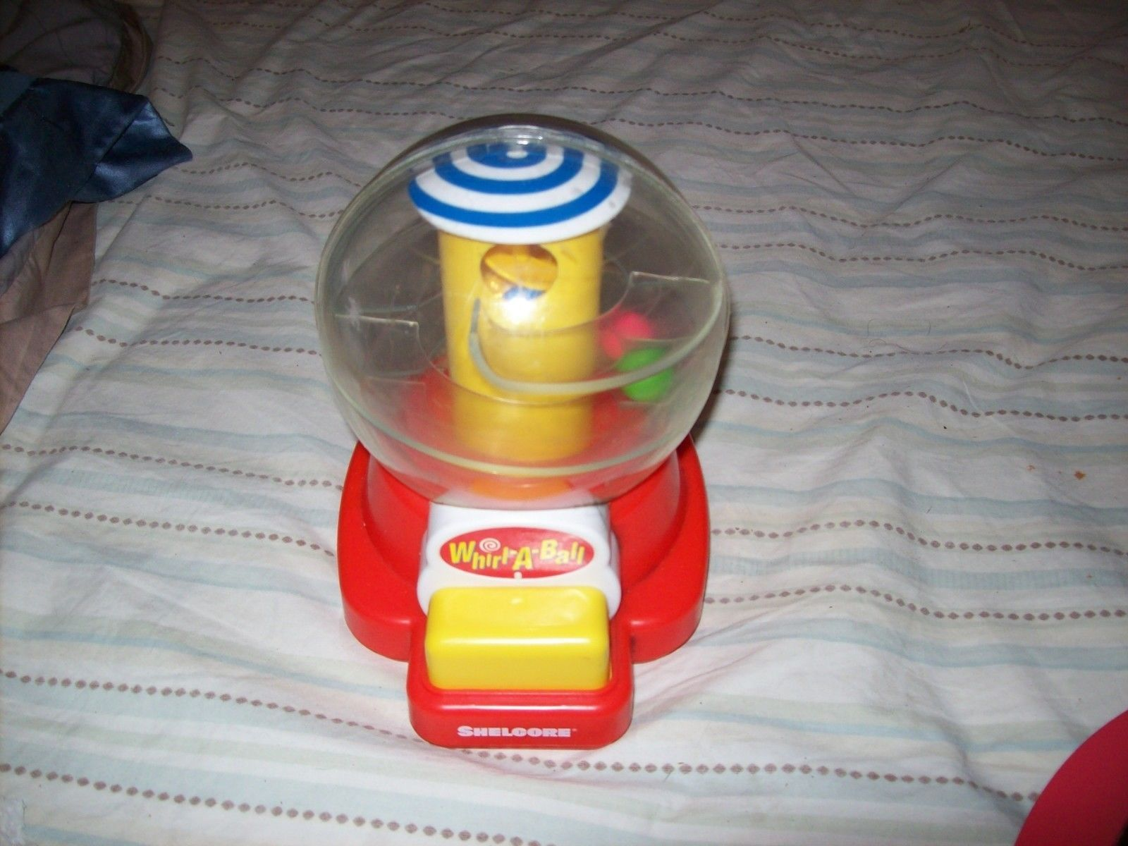 Shelcore Baby Toy Whirl A Ball Gumball Roller Whirl-A-Ball 1993 Baby Push Toy