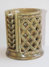 Vintage Mid-Century Stacking 7 Mini Personal Ashtrays & Lattice Holder C... - $14.01
