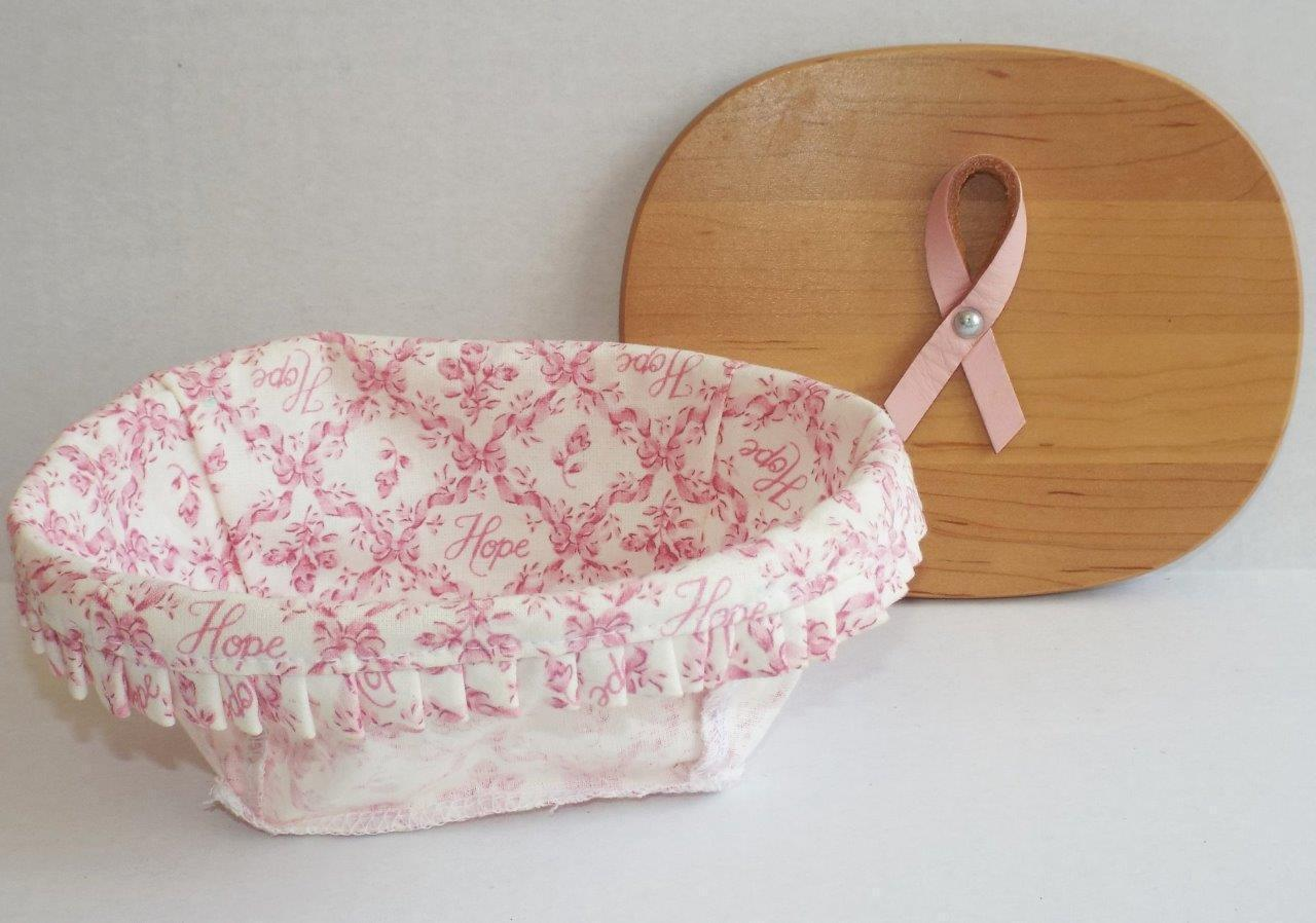 LONGABERGER Breast Cancer Horizon of Hope 2008 LID AND LINER ONLY Retired Pink
