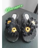 Ladies Black Crochet Flip Flop - $5.00