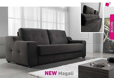Magali Sofa Sleeper Bed Living Room Modern Contemporary Futon Made in Spain