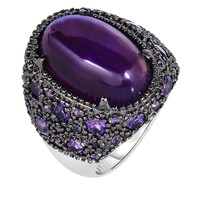 Women's Phillip Gavriel Sterling Silver Amethyst Ring With Black Rhodium - $494.99