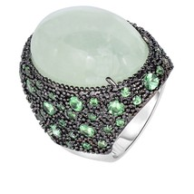 Women's Phillip Gavriel Sterling Silver Green Prehinite Gemstone Cocktai... - $1,113.17 CAD