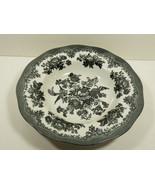 Earthenware Johnson Brothers Asiatic Pheasant Rimmed Soup Bowl Black & W... - $24.75