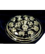 VTG Clear glass 16 hole dome Flower Frog Floral Candlestick candle holder - $20.79