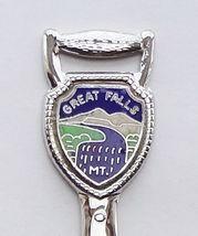 Collector Souvenir Spoon USA Montana Great Falls Cloisonne Emblem Shovel Map - $6.99