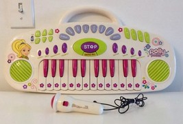 RARE Polly Pocket 24 Key Kids Keyboard With Microphone - $15.00