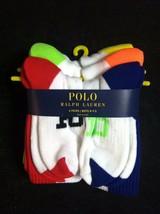 Polo Ralph Lauren Nouveaux Garçons Multicolore 97% Polyester Paquet de 6 - $24.12