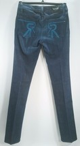 Rock & Republic 27 Stella Blue Jeans Straight Leg Low Rise Crystals $246... - $31.68
