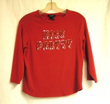 Miss Pretty sequined spandex Red Top by Express size M - $10.00